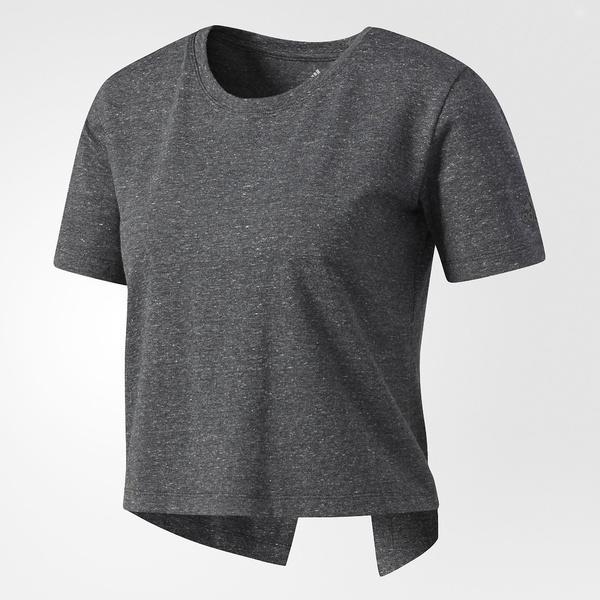(セール)adidas(アディダス)ヨガ Tシャツ W ヨガ バックデザインTシャツ DSX54 BQ5255 レディース DGH SLグレースノーメランジ