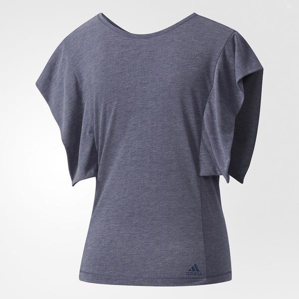 (セール)adidas(アディダス)ヨガ Tシャツ W ヨガフレキシブルTシャツ DUQ32 CF9474 レディース トレースブルーF17