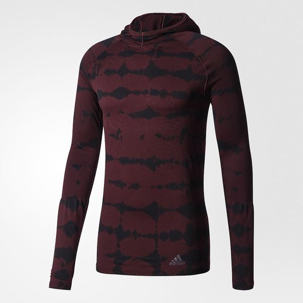 (セール)(送料無料)adidas(アディダス)ランニング メンズ長袖Tシャツ ULTRA PRIMEKNITLSTシャツM MMT82 BQ4762 メンズ ダークバーガンディ F12/ブラック