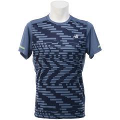 (セール)New Balance(ニューバランス)ランニング メンズ半袖Tシャツ NB ICE ショートスリーブグラフィックTシャツ AMT71224EVI メンズ エクスプローデッドグリッチ/ヴィンテージインディゴ