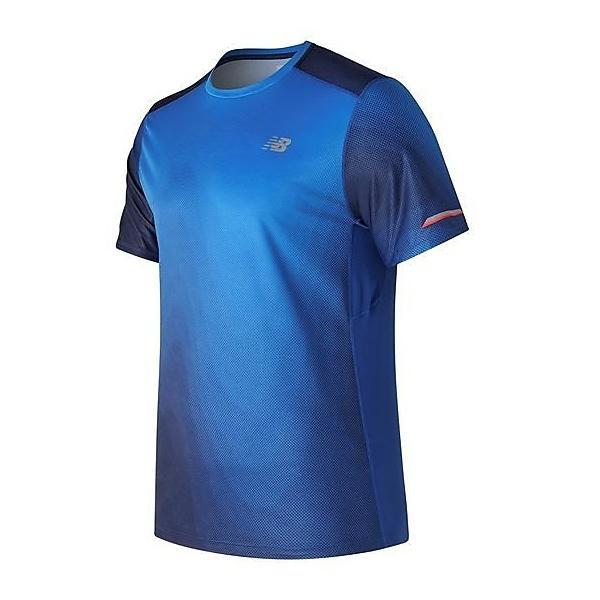 (セール)New Balance(ニューバランス)ランニング メンズ半袖Tシャツ NB ICE ショートスリーブグラフィックTシャツ AMT71224ITR メンズ インフラレッド/チームロイヤルマルチ