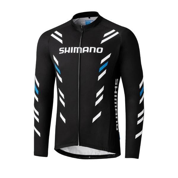 (送料無料)SHIMANO(シマノ)バイク 自転車 バイクアパレル サーマル プリント ロングスリーブ ジャージ ECWJSPWQS32ML3 メンズ M ブラック