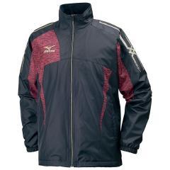 (セール)(送料無料)MIZUNO(ミズノ)メンズスポーツウェア ウインドアップジャケット 【ブレスサーモキャンペーン】 ウォーマーシャツ(ブレスサーモ) 32ME753196 96:ブラックxレッド杢
