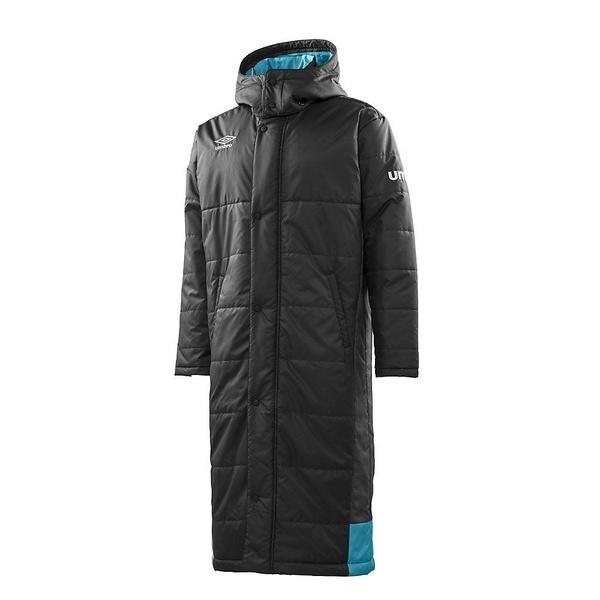 (セール)(送料無料)UMBRO(アンブロ)メンズスポーツウェア 中綿ジャケット グラフィックロングコート UCA1740 BLK メンズ BLK