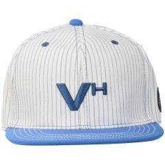 VIVA HEART(ビバハート)ゴルフ アクセサリー メンズポリエステルストライプフラットブリムキャップ 013-56834-50-6 メンズ 50 WHITE