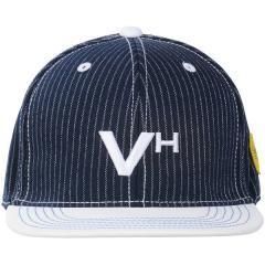 VIVA HEART(ビバハート)ゴルフ アクセサリー メンズポリエステルストライプフラットブリムキャップ 013-56834-50-98 メンズ 50 NAVY