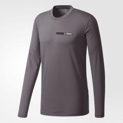 adidas(アディダス)トレッキング アウトドア 長袖Tシャツ ロックフレンズ ロングスリーブT DUU21 BS1106 メンズ グレーファイブF17