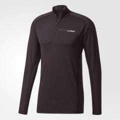 (送料無料)adidas(アディダス)トレッキング アウトドア 長袖Tシャツ トレースロッカ- ハーフジップロングスリーブ DLN52 BS2547 メンズ ブラック