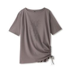 DANSKIN(ダンスキン)ヨガ Tシャツ ルーズ五分袖T DY77307 レディース GO