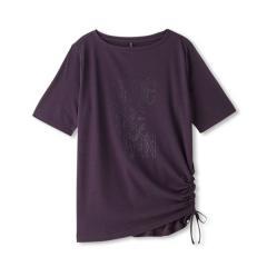 DANSKIN(ダンスキン)ヨガ Tシャツ ルーズ五分袖T DY77307 レディース KB