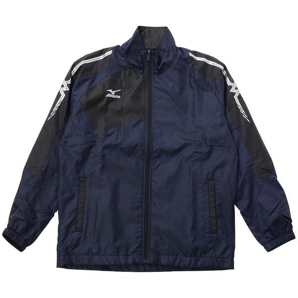 (セール)MIZUNO(ミズノ)ジュニアスポーツウェア ウインドジャケット JR ウォーマーシャツ 32JE793114 ボーイズ 14 ディープネイビーxブラック