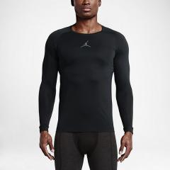 NIKE(ナイキ)バスケットボール メンズ 半袖Tシャツ ジョーダン 23 ALPHA DRY FITTED L/S トップ 642406-010 メンズ ブラック/(クールグレー)