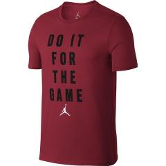 NIKE(ナイキ)バスケットボール メンズ 長袖Tシャツ ジョーダン FOR THE GAME VERBIAGE S/S Tシャツ 878388-687 メンズ ジムレッド/(ホワイト)