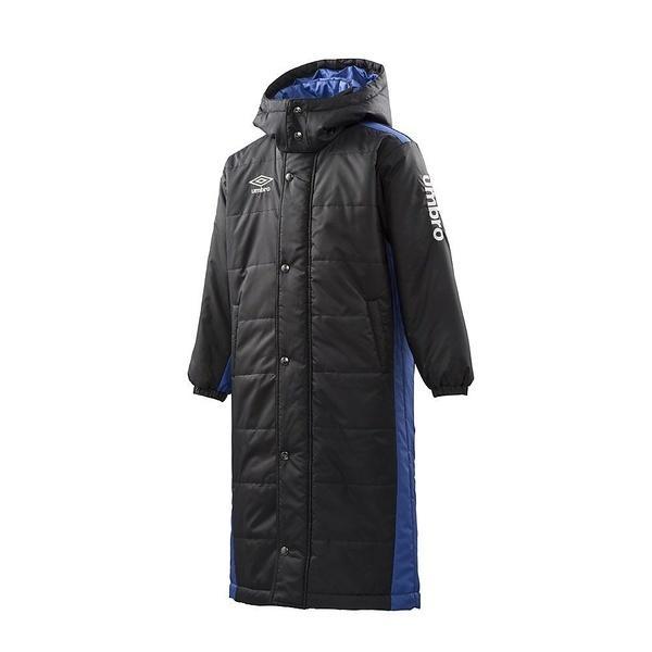 (セール)(送料無料)UMBRO(アンブロ)ジュニアスポーツウェア 中綿ハーフ Jr.ロングパテッドコート UCA1740J BLK ボーイズ BLK