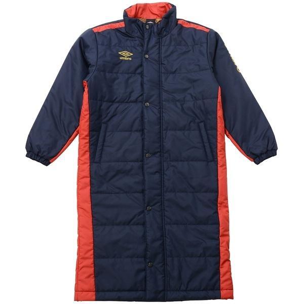 (セール)(送料無料)UMBRO(アンブロ)ジュニアスポーツウェア 中綿ハーフ Jr.ロングパテッドコート UCA1740J NVY ボーイズ NVY