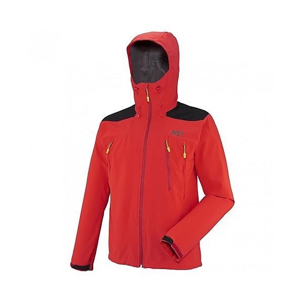 (セール)(送料無料)MILLET(ミレー)トレッキング アウトドア 薄手ジャケット K シールド フーディー MIV7395 0335 メンズ RED - ROUGE