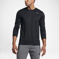 NIKE(ナイキ)メンズスポーツウェア 長袖機能Tシャツ ナイキ DRI-FIT レジェンド L/S Tシャツ 718838-010 メンズ ブラック/ブラック/(マットシルバー)