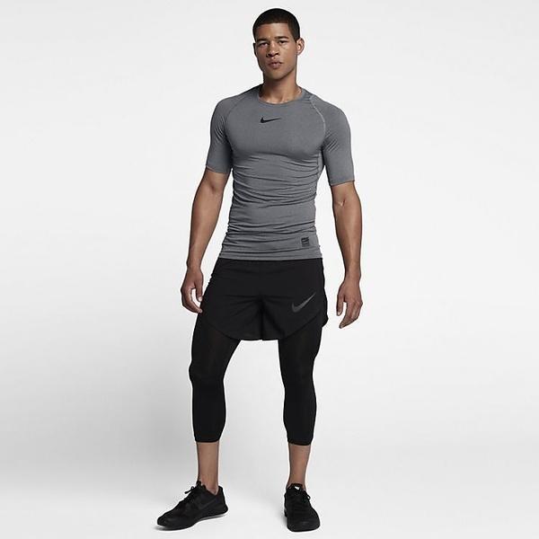 (セール)NIKE(ナイキ)メンズスポーツウェア コンプレッション半袖 NP コンプレッション S/S トップ 838092-091 メンズ カーボンヘザー/ブラック/(ブラック)