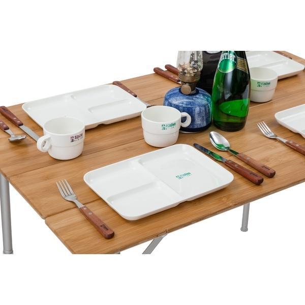 (セール)Alpine DESIGN(アルパインデザイン)キャンプ用品 ファミリーテーブルウェア テーブルウェアセット 4 AD-S18-402-017 ピンク・グリーン