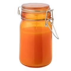 (セール)Alpine DESIGN(アルパインデザイン)キャンプ用品 キャンピングアクセサリー 虫よけキャンドル(シトロネラ) ガラス瓶蓋付き AD-S18-402-043 ORG オレンジ