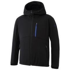 (送料無料)MIZUNO(ミズノ)トレッキング アウトドア 薄手ジャケット テックシールド ソフトシェルジャケット A2ME750309 メンズ ブラック