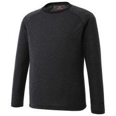 (セール)MIZUNO(ミズノ)トレッキング アウトドア 長袖Tシャツ ブレスサーモ ライトインナークルーネックシャツ A2MA753609 メンズ ブラック