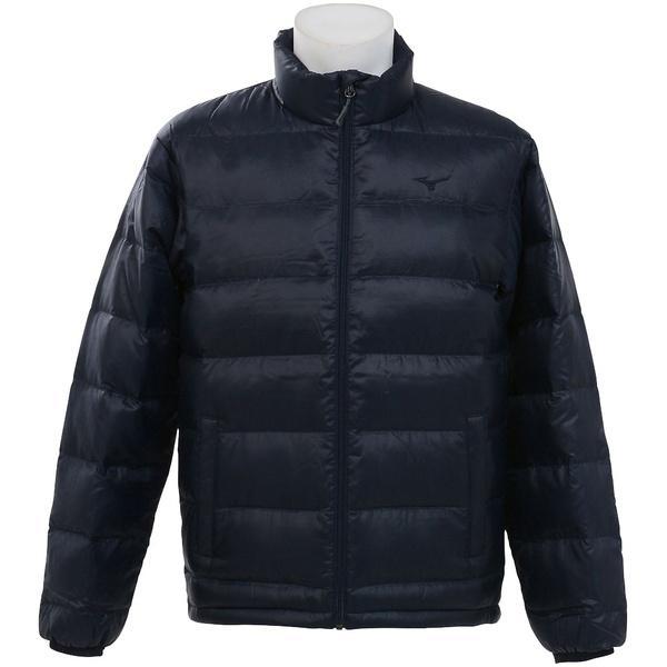 (セール)(送料無料)MIZUNO(ミズノ)トレッキング アウトドア 厚手ジャケット ブレスサーモダウンジャケット C2JE760114 メンズ ドレスネイビー