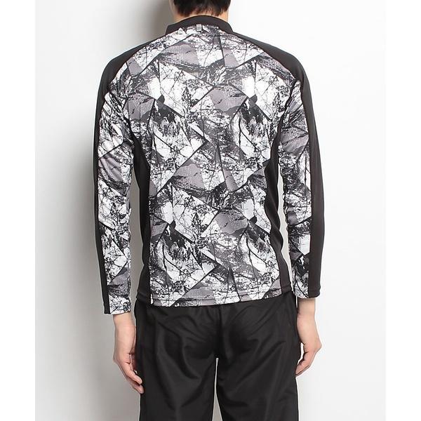 (セール)Number(ナンバー)ランニング メンズ長袖Tシャツ プリント長袖ハーフジップ NB-S18-302-008 メンズ アーバンツリーブラック