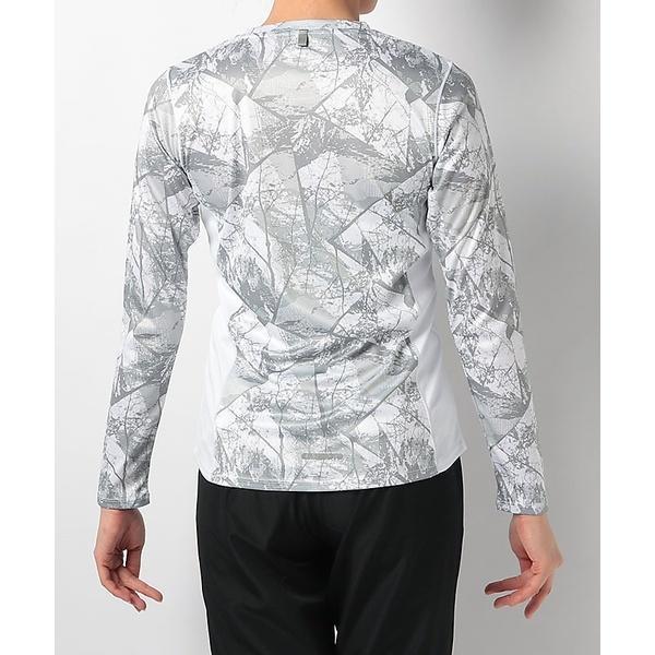 Number(ナンバー)ランニング レディース長袖Tシャツ レディースプリント長袖Tシャツ NB-S18-302-024 レディース アーバンツリーホワイト
