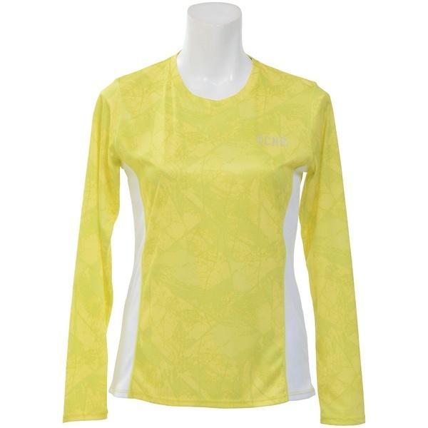 (セール)Number(ナンバー)ランニング レディース長袖Tシャツ レディースプリント長袖Tシャツ NB-S18-302-024 レディース アーバンツリーイエロー