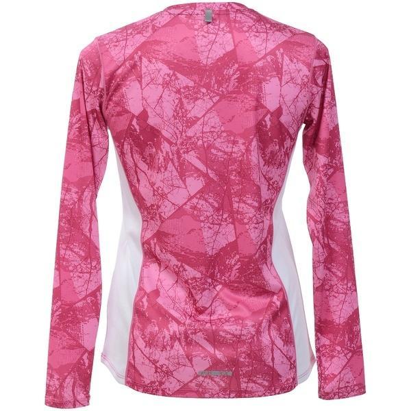 (セール)Number(ナンバー)ランニング レディース長袖Tシャツ レディースプリント長袖Tシャツ NB-S18-302-024 レディース アーバンツリーピンク