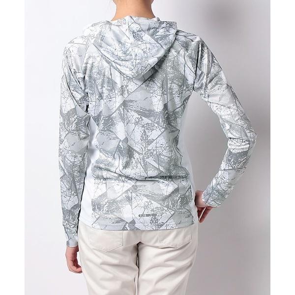 (セール)Number(ナンバー)ランニング レディース長袖Tシャツ レディースUVフードジャケット NB-S18-302-025 レディース アーバンツリーホワイト
