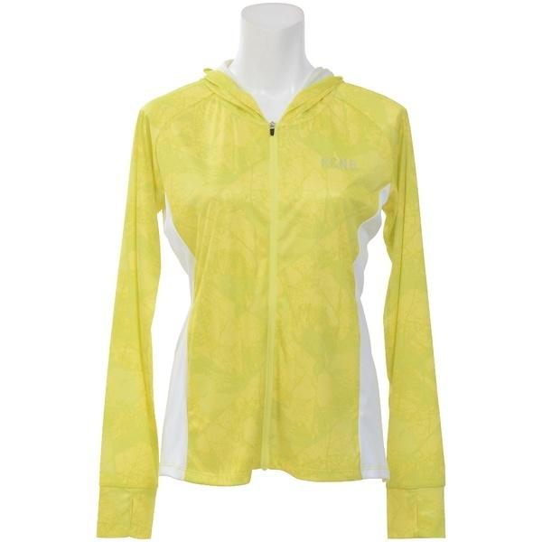 (セール)Number(ナンバー)ランニング レディース長袖Tシャツ レディースUVフードジャケット NB-S18-302-025 レディース アーバンツリーイエロー