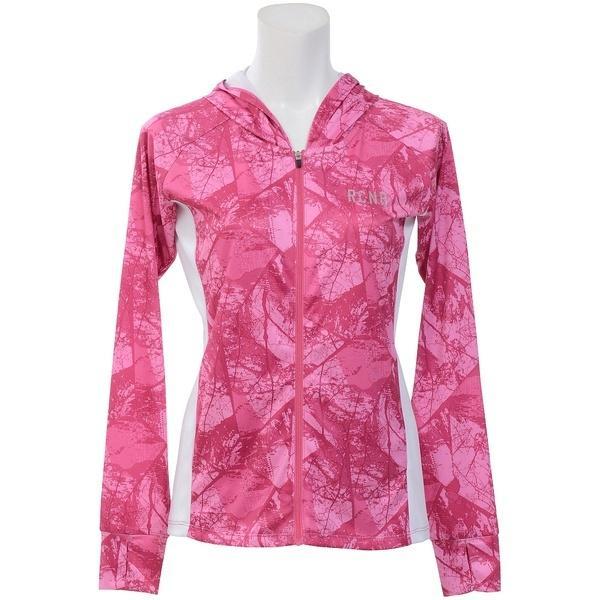 (セール)Number(ナンバー)ランニング レディース長袖Tシャツ レディースUVフードジャケット NB-S18-302-025 レディース アーバンツリーピンク
