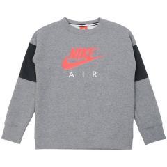 (セール)NIKE(ナイキ)ジュニアスポーツウェア Tシャツ ナイキ YTH エア L/S クルー 856178-091 ボーイズ カーボンヘザー/アンスラサイト/(サイレンレッド)