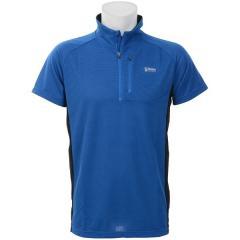 (セール)Alpine DESIGN(アルパインデザイン)トレッキング アウトドア 半袖シャツ ハーフジップアップ半袖シャツ AD-S18-401-013 BLU メンズ ブルー