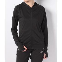 (セール)SPORTS AUTHORITY(スポーツオーソリティ)レディーススポーツウェア 長袖Tシャツ UVパーカージャケット 5C-S18-306-001 レディース ブラック