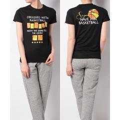 (セール)s.a.gear(エスエーギア)バスケットボール レディース 半袖Tシャツ レディース半袖グラフィックTEE SAGEAR SA-S18-103-007 レディース ブラック
