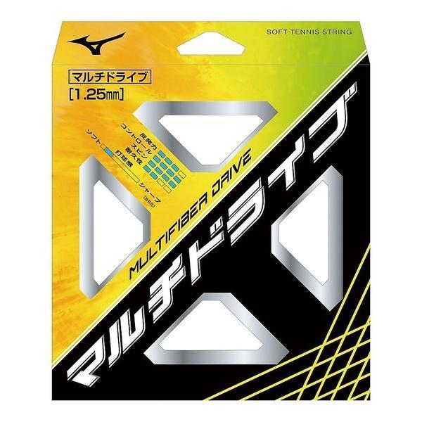 MIZUNO(ミズノ)ソフトテニス ストリングス MULTIFIBER DRIVE(マルチファイバードライブ)63JGN80801 01:ナチュラル