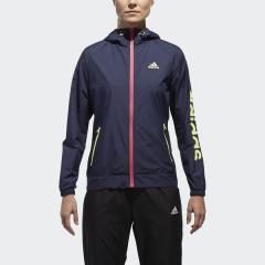 (送料無料)adidas(アディダス)レディーススポーツウェア ウインドアップジャケット W TEAM リニアウインドブレーカーフード付ジャケット EUA66 CX4475 レディース レジェンドインクF17