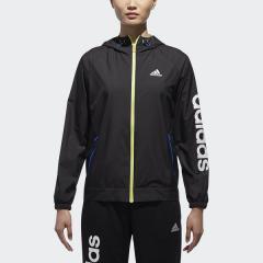 (送料無料)adidas(アディダス)レディーススポーツウェア ウインドアップジャケット W TEAM リニアウインドブレーカーフード付ジャケット EUA66 CX4476 レディース ブラック
