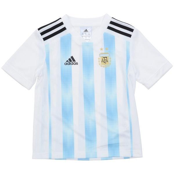 (送料無料)adidas(アディダス)サッカー 海外クラブ ナショナルチーム KIDSアルゼンチン代表 ホームミニキット DTQ80 BQ9285 ボーイズ ホワイト/クリアブルー/ブラック