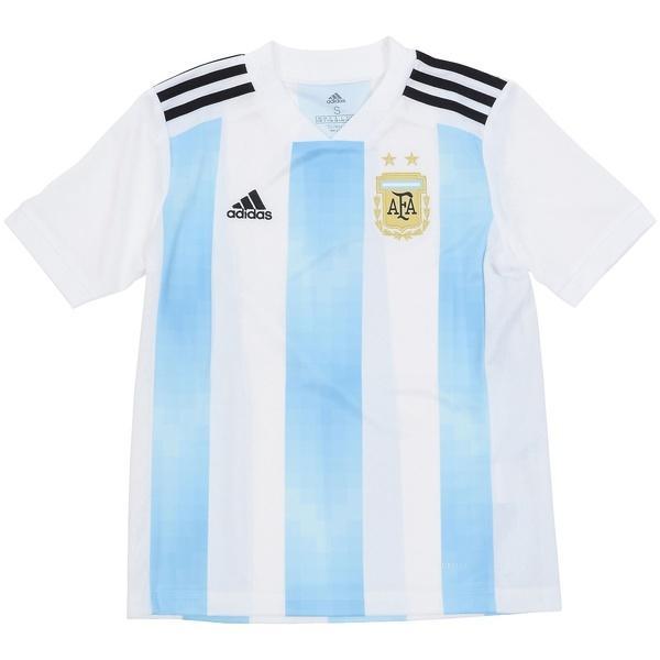 (送料無料)adidas(アディダス)サッカー 海外クラブ ナショナルチーム KIDSアルゼンチン代表 ホームレプリカユニフォーム半袖 DTQ81 BQ9288 ボーイズ ホワイト/クリアブルー/ブラック
