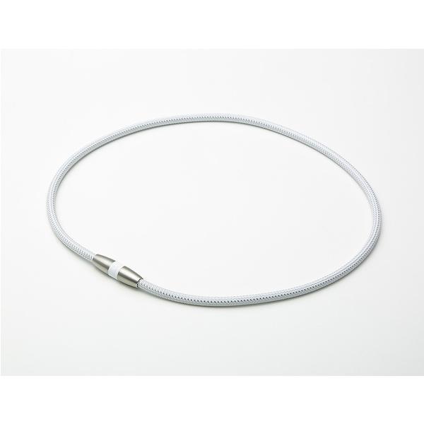 33ef11c657 phiten(ファイテン)スポーツアクセサリー 健康アクセ RAKUWA磁気チタンネックレス ホワイト/シルバー 45CM