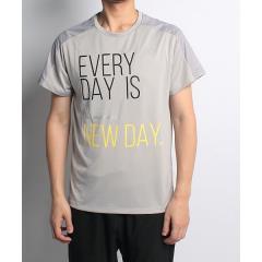(セール)RUNPASSPORT(ランパスポート)ランニング メンズ半袖Tシャツ カタキリカエメッセージTシャツ RP-S18-302-009 メンズ グレー