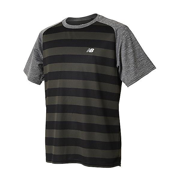 New Balance(ニューバランス)ランニング メンズ半袖Tシャツ R360 グラフィックショートスリーブTシャツ JMTR8103BK メンズ ブラック