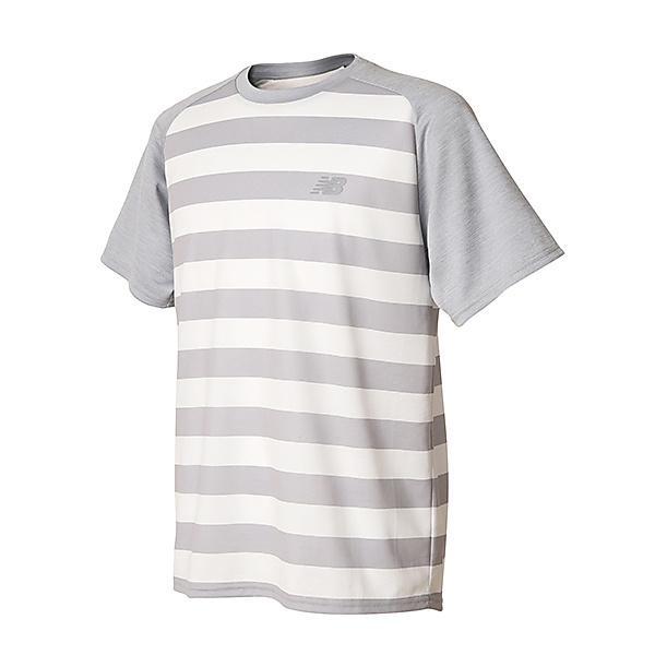 New Balance(ニューバランス)ランニング メンズ半袖Tシャツ R360 グラフィックショートスリーブTシャツ JMTR8103WT メンズ ホワイト