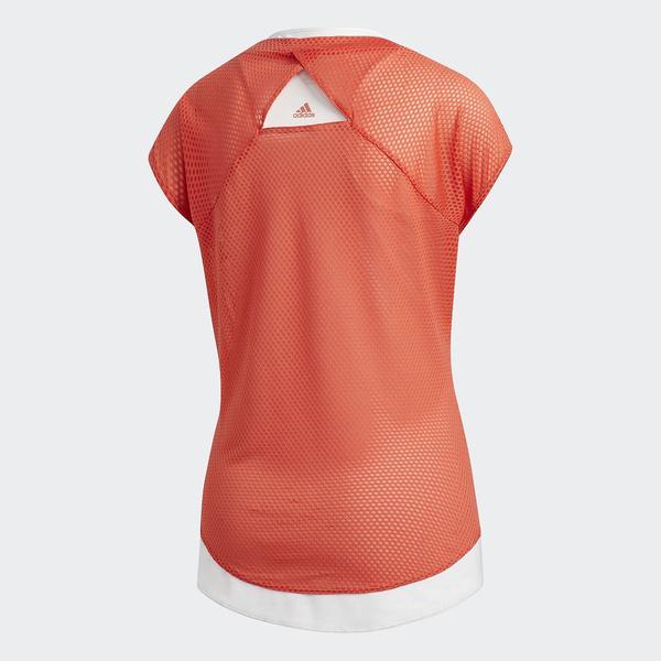 (セール)adidas(アディダス)ランニング レディース半袖Tシャツ SNOVATOKYO 2IN1UVTシャツ W EDO73 CG1178 レディース トレーススカーレット S18/クリスタルホワイト S16