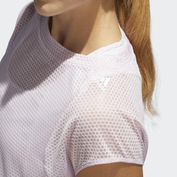 adidas(アディダス)ランニング レディース半袖Tシャツ SNOVATOKYO 2IN1UVTシャツ W EDO73 CW3913 レディース エアロピンク S18/クリスタルホワイト S16