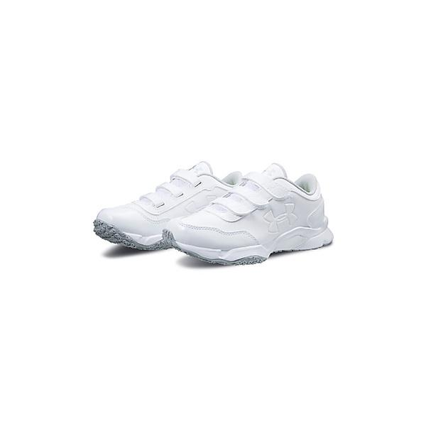 UNDER ARMOUR(アンダーアーマー)野球 樹脂底スパイク 18S UA ULTIMATE TRAINER V WIDE JR 3020208 111 WHT/WHT